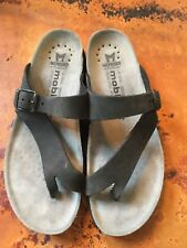 Women's MEPHISTO 'Helen' Black  Leather Sandals Size 40 US 9