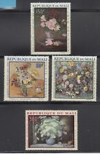 Mali 1968 Flower Paintings Sc C55-58 Cplte mint  never hinged