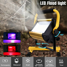 100W 100 LED 1200LM Portable Rechargeable Flood Light Spot Work Camping  ! NEW