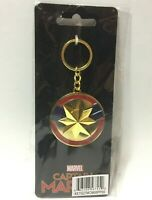 Marvel Studios CAPTAIN MARVEL MCU Spinning Logo Medallion Keychain x Bioworld