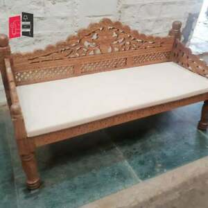Mughal Garden Hand Carved Balinese Daybed Natural 165x65X85 CM (MADE TO ORDER)