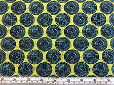 Benartex - Urban Oasis By Kitty Yoshida - P3374 - Turquoise Circles 100% Cotton