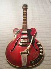 Hofner Verythin Verithin Semi Acoustic Electric Guitar Cherry Red