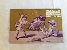 Antique Victorian Trade Card, G.F. Peck Ladies' Clothing Corsets, Advertising