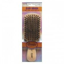 Annie Hard Club Brush Light Brown 50% Hard Boar Bristle 50% Nylon Bristles #2061