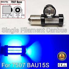 7507 BAU15S PY21W 108 SMD LED Bulb 150° Blue Front Turn Signal Parking M1 MAR