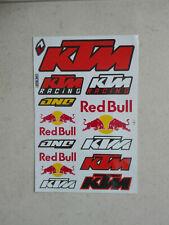 12x Sticker Aufkleber Bogen Racing KTM Energy ONE Motorsport Autotuning