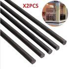 2pcs 6mm Diameter x 500mm Carbon Fiber Rods For RC Airplane High Quality Pole ~