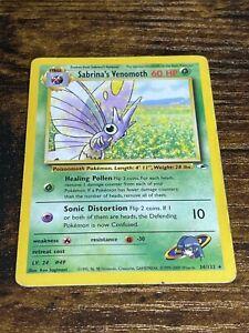 Sabrina's Venomoth 34/132 Rare Non Holo Pokemon Card. Gym Heroes. Excellent.