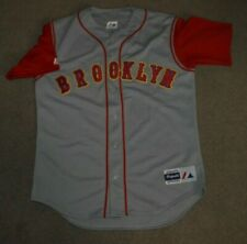 Brooklyn Cyclones Majestic Baseball Jersey Medium Blank NY Mets