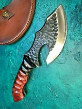 Handmade Hunting Knife Butcher Dragon Heavy Duty Chop Bone Cutter Axe Cleaver Ax