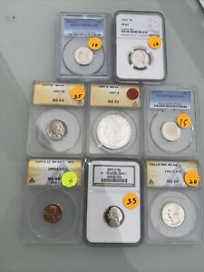 Certified US Coins ANACS & or PCGS No Reserve $200+ Red Book Value; 227