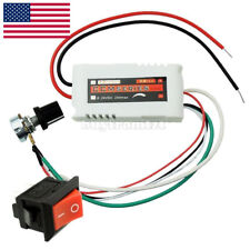 DC 12V PWM Motor Speed Control Controllor For Fan Pump Oven Blower w/Switch US