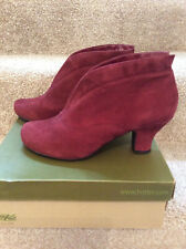 Beautiful New Hotter 'Danielle' Suede Leather Boots, Size 8