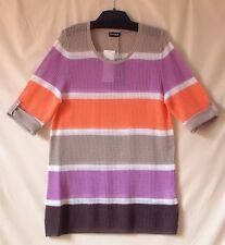 Samoon Pullover Longstyle Gerry Weber luftiger Pulli extra Long Baumwolle Gr.48