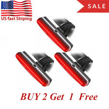 Best LED Bicycle Bike Cycling Front Rear Tail Light USB Rechargeable 6 Modes USA