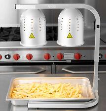 Avantco Aluminum Heat Lamp Food Warmer 2 Bulb Free Standing Buffet Commercial