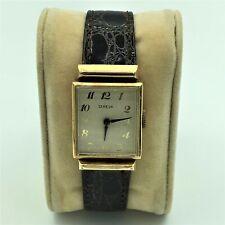 "Vintage A. Hirsch ""Geneva"" Swiss 14K Rose Gold 17J Unadj Wrist Watch Running"