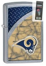 Zippo 29379 Los Angeles Rams NFL Street Chrome Finish Lighter + FLINT PACK