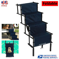 Puppy Dog Steps for High Bed 4 Steps Pet Stairs Small Dogs Cats Ramp Ladder Blue
