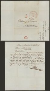 Mexico 1849 - Stampless Letter Mazatlan to Duragno A501