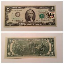 VINTAGE UNCIRCULATED STAR 1976 $2 TWO DOLLAR FIRST DAY ISSUE 1ST FOLCROFT PA UNC