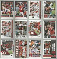 Atlanta Falcons 12 card 2017 SCORE insert & parallel lot-all different
