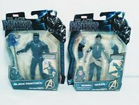 """2 Hasbro Marvel Avengers Black Panther SHURI and Black Panther 6"""" Action Figure"""