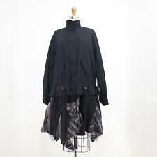 2 / M - Sacai Black Sheer Striped Contrast Unique Bomber Dress Jacket NEW 0316EB