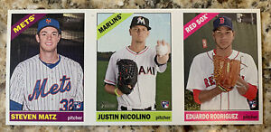 2015 Topps Heritage Advertising Panel Matz/Nicolino/E Rodriguez Rookie Cards!!!!