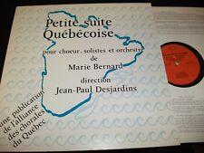 PETITE SUITE QUÉBÉCOISE°MARIE BERNARD<> Lp VINYL~Canada Pressing~ACQ 1001