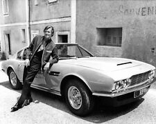 Roger Moore The Persuaders Aston Martin BW 10x8 Photo