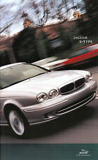 Jaguar X Type Prospekt 2001 11 01 car brochure Auto PKWs England Autoprospekt