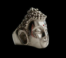 Solid Sterling Silver Reiki Hindu Buddha Ring - All Sizes