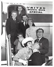 """Robert Preston """"MUSIC MAN"""" Shirley Jones / Ron Howard 1962 United Airlines Photo"""