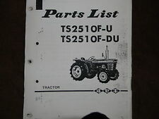 Iseki TS2510 tractor parts manual