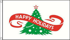 3' x 2' HAPPY HOLIDAYS FLAG Merry Christmas Flags Xmas Tree Party Banner