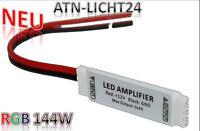 Signal Verstärker Amplifier Repeater DC 12V für RGB 5050 LED SMD Lichtkette 144W
