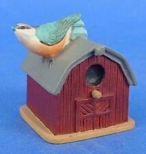 Lenox Miniature Birdhouse Thimble Nuthatch Bird Barn