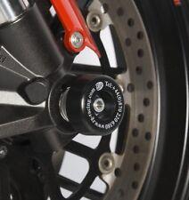 Aprilia shiver 750 2008-2015 R&G racing fork crash protectors black