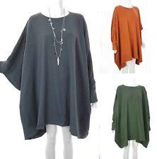 Plus Size Cotton Scoop Neck Stretch Women's Tops & Shirts