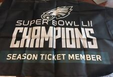 Philadelphia Eagles STH Super Bowl Champions Flag & Replica SUPER BOWL 52 TICKET