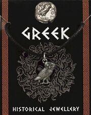 Greek Owl Pendant - Pewter