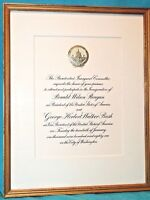 Ronald Reagan ** Framed Inauguration Invitation 14 X 12 ** 1981