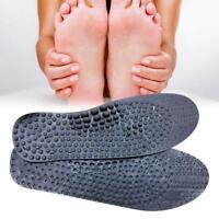 Anthrazit Akupunktur Fußmassage Einlegesohlen Trim Männer Frauen Unisex F1R4