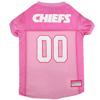 Kansas City Chiefs Licensed NFL Pets First Dog Pet Mesh Pink Jersey Sizes XS-L