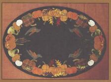 Autumn's Glory Table Mat Wool Applique Primitive Gatherings Pattern