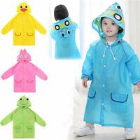 Funny Raincoat Cute Baby Children Cartoon Rain Coat Kids Rainwear Waterproof New