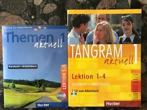 un lot Themen Aktuell et Tangram Aktuel pour apprendre l'allemand, avec les CD