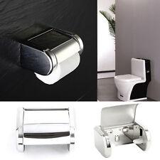 Bathroom Wall Mounted Stainless Steel Toilet Chrome Paper Tissue Box Holder UK